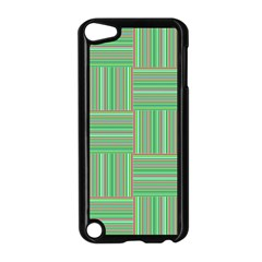 Geometric Pinstripes Shapes Hues Apple iPod Touch 5 Case (Black)