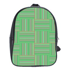 Geometric Pinstripes Shapes Hues School Bags (XL)