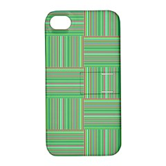 Geometric Pinstripes Shapes Hues Apple iPhone 4/4S Hardshell Case with Stand
