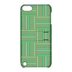 Geometric Pinstripes Shapes Hues Apple iPod Touch 5 Hardshell Case with Stand