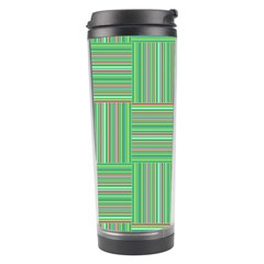 Geometric Pinstripes Shapes Hues Travel Tumbler