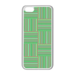 Geometric Pinstripes Shapes Hues Apple iPhone 5C Seamless Case (White)