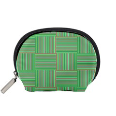 Geometric Pinstripes Shapes Hues Accessory Pouches (Small)