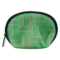 Geometric Pinstripes Shapes Hues Accessory Pouches (Medium)