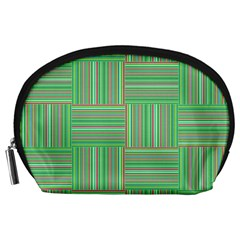 Geometric Pinstripes Shapes Hues Accessory Pouches (Large)