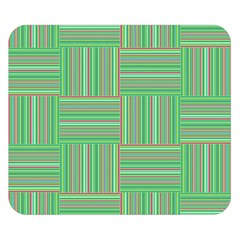 Geometric Pinstripes Shapes Hues Double Sided Flano Blanket (Small)