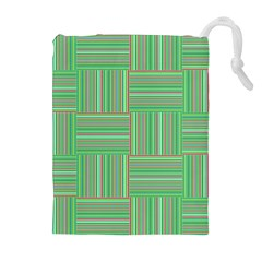 Geometric Pinstripes Shapes Hues Drawstring Pouches (Extra Large)