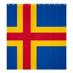 Flag of Aland Shower Curtain 66  x 72  (Large)