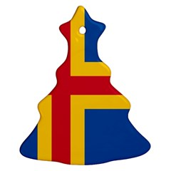 Flag of Aland Christmas Tree Ornament (Two Sides)