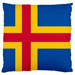 Flag of Aland Large Cushion Case (One Side)