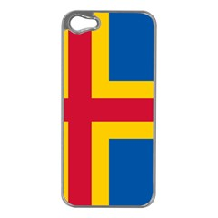 Flag of Aland Apple iPhone 5 Case (Silver)