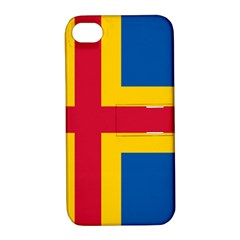 Flag of Aland Apple iPhone 4/4S Hardshell Case with Stand