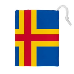 Flag of Aland Drawstring Pouches (Extra Large)
