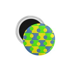 Abric Cotton Bright Blue Lime 1 75  Magnets