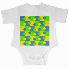 Abric Cotton Bright Blue Lime Infant Creepers