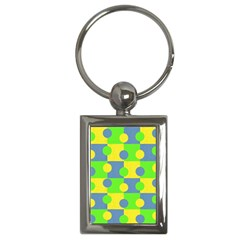 Abric Cotton Bright Blue Lime Key Chains (Rectangle)