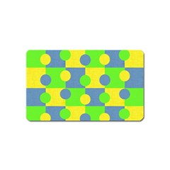 Abric Cotton Bright Blue Lime Magnet (Name Card)