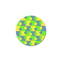 Abric Cotton Bright Blue Lime Golf Ball Marker (10 Pack)