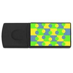 Abric Cotton Bright Blue Lime USB Flash Drive Rectangular (1 GB)