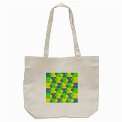 Abric Cotton Bright Blue Lime Tote Bag (cream)