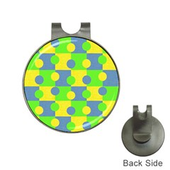 Abric Cotton Bright Blue Lime Hat Clips with Golf Markers