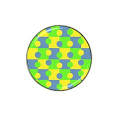 Abric Cotton Bright Blue Lime Hat Clip Ball Marker (4 Pack)