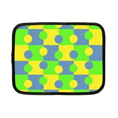 Abric Cotton Bright Blue Lime Netbook Case (Small)