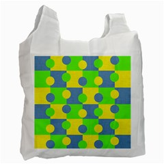 Abric Cotton Bright Blue Lime Recycle Bag (One Side)