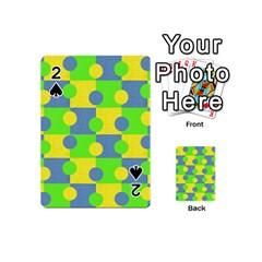Abric Cotton Bright Blue Lime Playing Cards 54 (Mini)