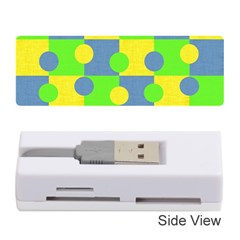 Abric Cotton Bright Blue Lime Memory Card Reader (Stick)