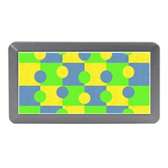 Abric Cotton Bright Blue Lime Memory Card Reader (mini)