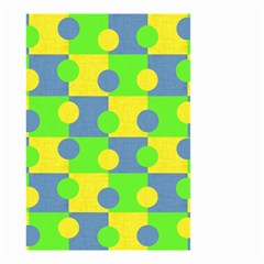 Abric Cotton Bright Blue Lime Small Garden Flag (Two Sides)