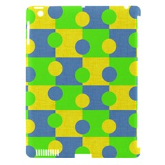 Abric Cotton Bright Blue Lime Apple iPad 3/4 Hardshell Case (Compatible with Smart Cover)