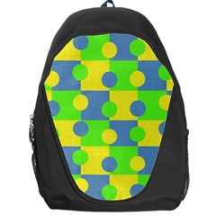 Abric Cotton Bright Blue Lime Backpack Bag