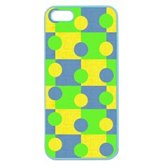 Abric Cotton Bright Blue Lime Apple Seamless Iphone 5 Case (color)