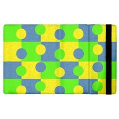 Abric Cotton Bright Blue Lime Apple iPad 2 Flip Case