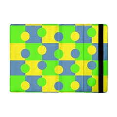 Abric Cotton Bright Blue Lime Apple iPad Mini Flip Case