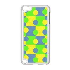 Abric Cotton Bright Blue Lime Apple iPod Touch 5 Case (White)