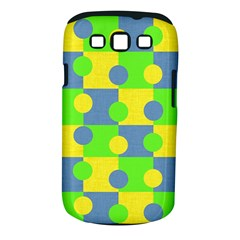 Abric Cotton Bright Blue Lime Samsung Galaxy S III Classic Hardshell Case (PC+Silicone)