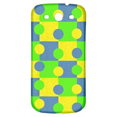 Abric Cotton Bright Blue Lime Samsung Galaxy S3 S Iii Classic Hardshell Back Case