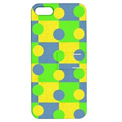 Abric Cotton Bright Blue Lime Apple iPhone 5 Hardshell Case with Stand