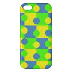 Abric Cotton Bright Blue Lime Apple iPhone 5 Premium Hardshell Case