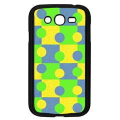 Abric Cotton Bright Blue Lime Samsung Galaxy Grand DUOS I9082 Case (Black)