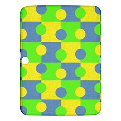 Abric Cotton Bright Blue Lime Samsung Galaxy Tab 3 (10.1 ) P5200 Hardshell Case