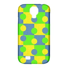 Abric Cotton Bright Blue Lime Samsung Galaxy S4 Classic Hardshell Case (pc+silicone)