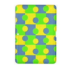 Abric Cotton Bright Blue Lime Samsung Galaxy Tab 2 (10.1 ) P5100 Hardshell Case