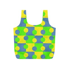 Abric Cotton Bright Blue Lime Full Print Recycle Bags (S)
