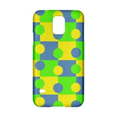 Abric Cotton Bright Blue Lime Samsung Galaxy S5 Hardshell Case