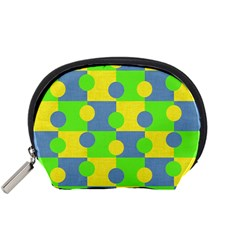 Abric Cotton Bright Blue Lime Accessory Pouches (Small)