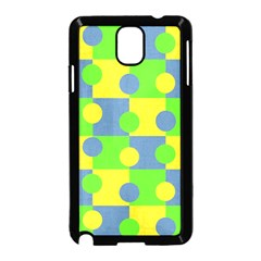 Abric Cotton Bright Blue Lime Samsung Galaxy Note 3 Neo Hardshell Case (Black)
